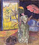 Lady with a Parasol 1905 By Natalia Goncharova