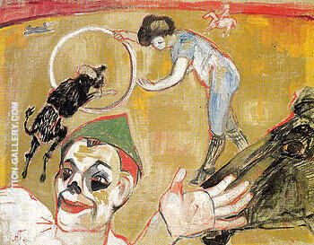 Circus 1906 By Natalia Goncharova Replica Paintings on Canvas - Reproduction Gallery