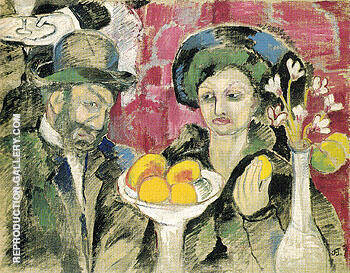 In a Restaurant c1905 By Natalia Goncharova