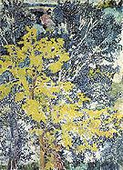 Landscape Pointille c1905 By Natalia Goncharova