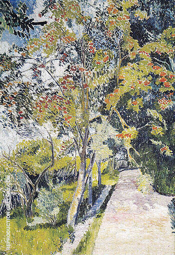 Rowan Tree Panino near Vyazma 1906 By Natalia Goncharova - Oil Paintings & Art Reproductions - Reproduction Gallery