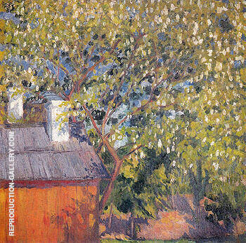 Blossoming Tree 1906 By Natalia Goncharova - Oil Paintings & Art Reproductions - Reproduction Gallery
