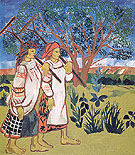 Peasant Women with Rakes 1907 By Natalia Goncharova