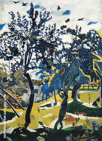 Windy Day 1907 By Natalia Goncharova - Oil Paintings & Art Reproductions - Reproduction Gallery