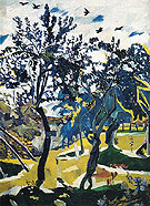 Windy Day 1907 By Natalia Goncharova