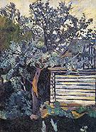 Trees and a Peasant Hut 1907 By Natalia Goncharova