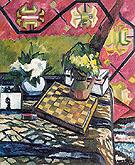 Still Life with Chessboard 1907 By Natalia Goncharova