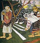 Bleaching Canvas 1908 By Natalia Goncharova
