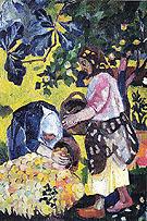 Picking Fruit Volet of a Polyptych 1908 B By Natalia Goncharova