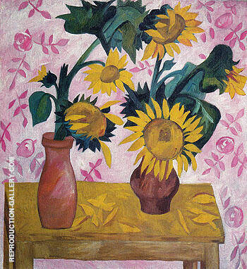 Sunflowers c1908 By Natalia Goncharova Replica Paintings on Canvas - Reproduction Gallery