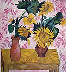 Sunflowers c1908 By Natalia Goncharova