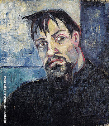 Portrait of the Artist Pyotr Lvov 1908 By Natalia Goncharova Replica Paintings on Canvas - Reproduction Gallery