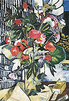 Bouquet and Container of Paints 1909 By Natalia Goncharova