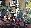 Still Life with a Pineapple c1908 By Natalia Goncharova