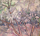 Blossoming Apple Trees c1908 By Natalia Goncharova