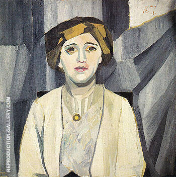 Portrait of Anna Zelmanova c1909 Painting By Natalia Goncharova