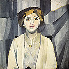 Portrait of Anna Zelmanova c1909 By Natalia Goncharova