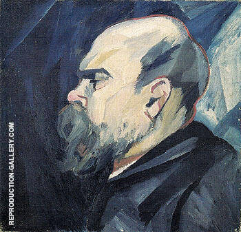 Portrait of Paul Verlaine c1909 Painting By Natalia Goncharova