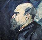 Portrait of Paul Verlaine c1909 By Natalia Goncharova
