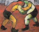 Wrestlers c1908 By Natalia Goncharova