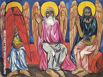 Trinity c1909 Painting By Natalia Goncharova - Reproduction Gallery