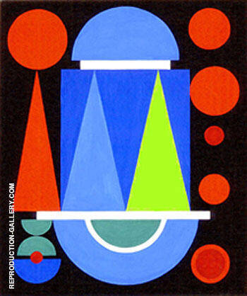Abstraction 1928 By Auguste Herbin Replica Paintings on Canvas - Reproduction Gallery