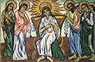 Mother of God Enthroned and Bystanders c1909 By Natalia Goncharova