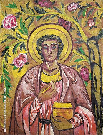 St Panteleimon the Healer c1909 By Natalia Goncharova Replica Paintings on Canvas - Reproduction Gallery