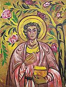 St Panteleimon the Healer c1909 By Natalia Goncharova