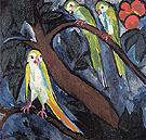Parrots 1910 By Natalia Goncharova