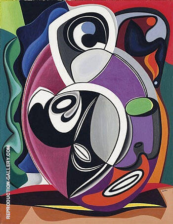 Abstraction 1928 Painting By Auguste Herbin - Reproduction Gallery