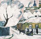 Moscow Winter c1910 By Natalia Goncharova