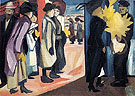 Spring in a Town 1910 By Natalia Goncharova