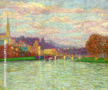 After The Rain at La Roche Guyon 1906 Painting By Auguste Herbin