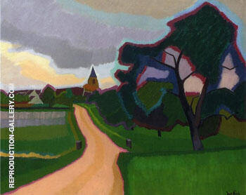 Church at Orgeruse 1908 By Auguste Herbin Replica Paintings on Canvas - Reproduction Gallery