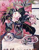 Still Life with Peonies 1910 By Natalia Goncharova
