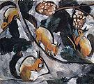 Squirrels 1910 By Natalia Goncharova