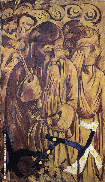 Chinese Style c1910 Painting By Natalia Goncharova - Reproduction Gallery