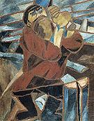 Wood Slicer 1910 By Natalia Goncharova
