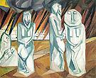 Pillars of Salt c1910 By Natalia Goncharova