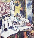 Still Life Scrolls and Stela c1910 By Natalia Goncharova