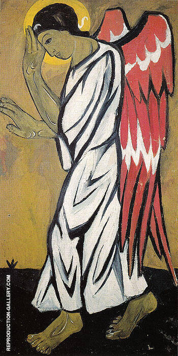 Archangel In White By Natalia Goncharova - Oil Paintings & Art Reproductions - Reproduction Gallery