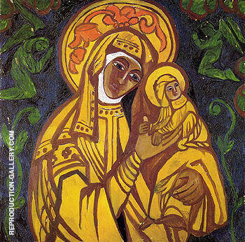 Virgin and Child 1911 By Natalia Goncharova