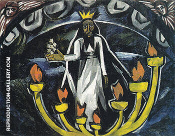 Starets with Seven Stars Apocalypse 1910 By Natalia Goncharova Replica Paintings on Canvas - Reproduction Gallery