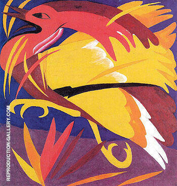 Phoenix 1911 By Natalia Goncharova Replica Paintings on Canvas - Reproduction Gallery