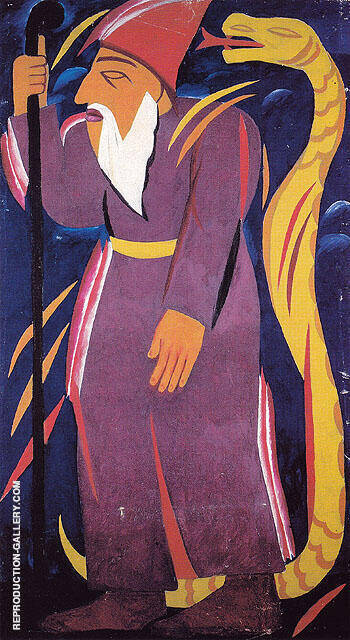 Prophet 1911 By Natalia Goncharova - Oil Paintings & Art Reproductions - Reproduction Gallery