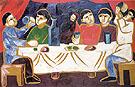 Drinking Wine 1911 By Natalia Goncharova