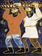 Peasants 1911 By Natalia Goncharova