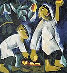 Peasants Picking Apples 1911 By Natalia Goncharova