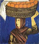 Woman Carrying Oranges c1910 By Natalia Goncharova